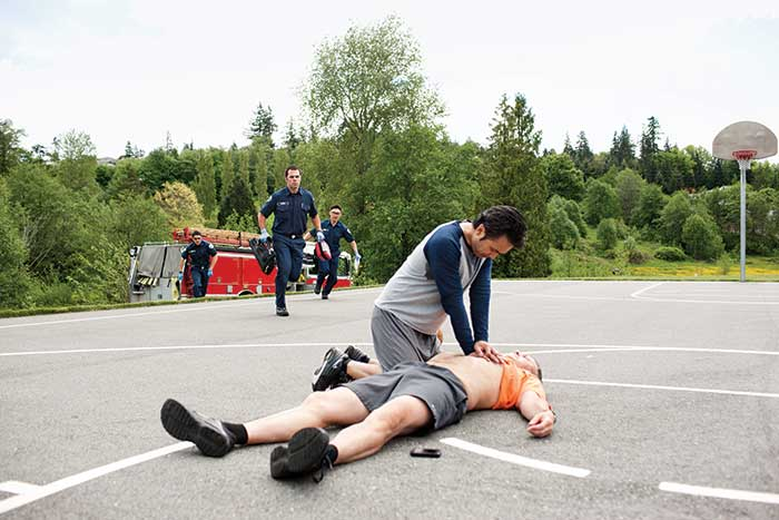 Alert nearby CPR-trained individuals to cardiac emergencies