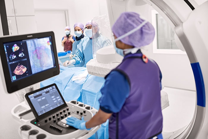 With Philips EchoNavigator clinicians can combine live ultrasound and X-ray information into one intuitive view.