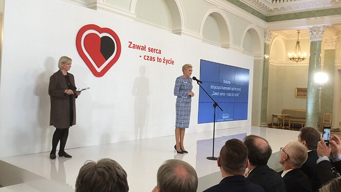 Pan-Polish 'Heart attack – Time is Life' campaign helps save lives