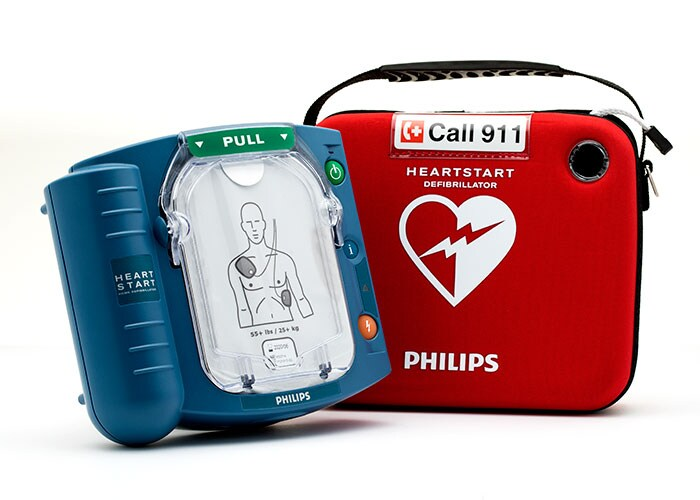 Download image (.jpg) HeartStart OnSite and HeartStart Home defibrillators (opens in a new window)