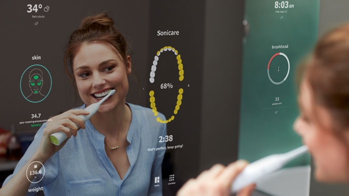 Download image (.jpg) Philips Smart Mirror concept (opens in a new window)
