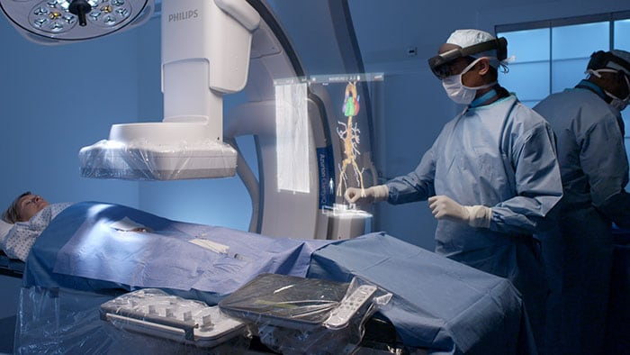 Philips and Microsoft HoloLens 2: could augmented reality change the face of image guided therapy?