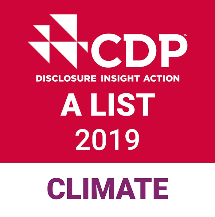 CDP climate A List stamp