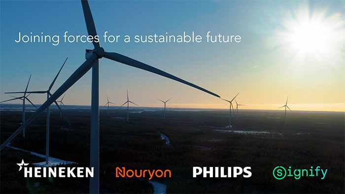 Adding green energy to the grid: Philips, HEINEKEN, Nouryon and Signify form first Pan-European consortium for future wind farm