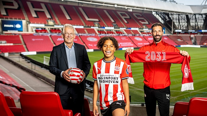 Philips has signed a new agreement to extend its current 107-year partnership with the Eindhoven football club PSV