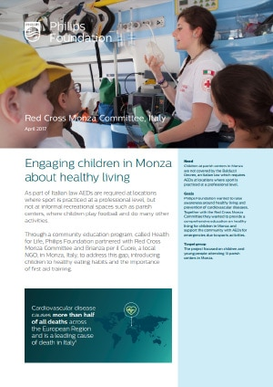Engaging children in Monza about healthy living - Philips