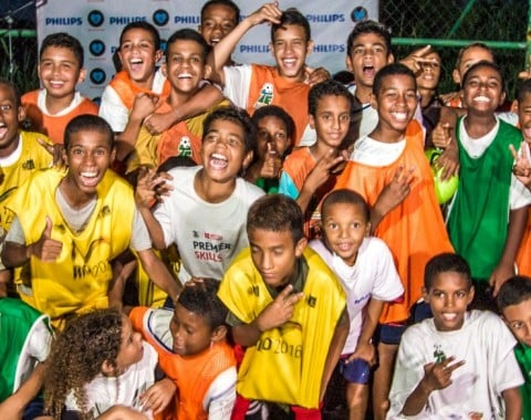 Illuminating soccer fields and community life