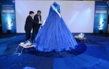 Giving final touches to the gown with Philips PerfectCare Iron