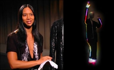 Michael Jackson's designer Zaldy created a special costume using Philips Lumalive light emitting textile.
