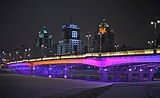 Astana bridge with Philips LED lighting