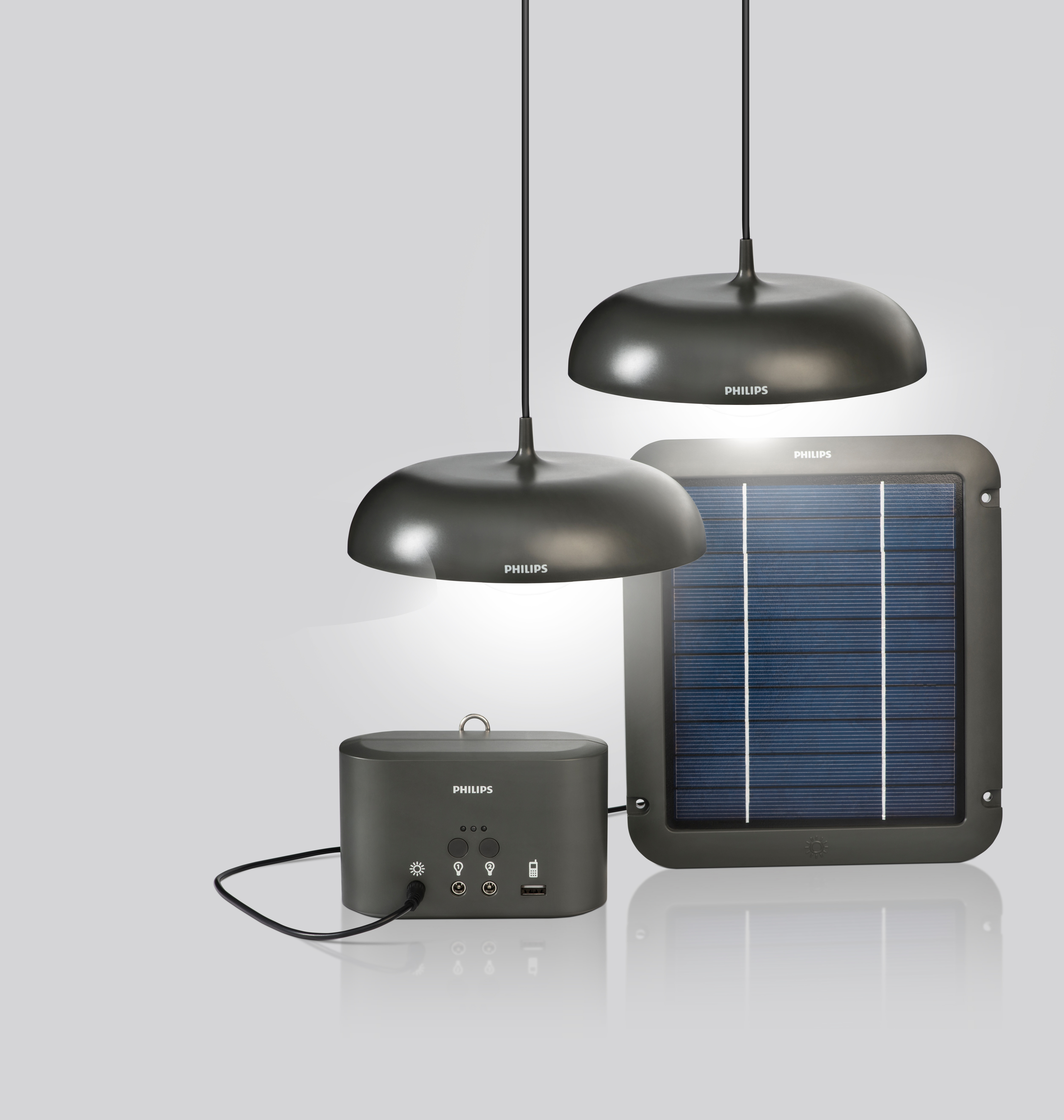 Philips Solar Wall Lights : Solar-powered LED luminaires from Philips can brighten the homes of millions